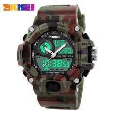 Harga Skmei 1029 Pria Olahraga Multifungsi Digital Jam Tangan Tahan Air Fashion Kasual Quartz Watch Kamuflase Hijau Skmei