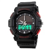 Review Skmei Solar Power Hitam Merah Jam Tangan Pria Strap Karet 1050 Sport Black Red Free Box Jam Tangan Flash