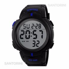 Jual Skmei 1068 Jam Tangan Pria Fashion Casual Waterproof Led Digital Sport Men Watch Black Blue Original