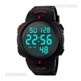 Jual Skmei 1068 Jam Tangan Pria Fashion Casual Waterproof Led Digital Sport Men Watch Red Branded