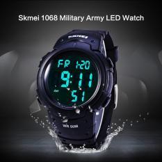 Harga Skmei 1068 Multifunctional Led Military Watch Alarm Stopwatch Water Resistant Termahal