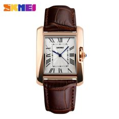 Fashion wanita SKMEI 1085 Luxury Retro Quartz Analog Tahan Air Jam Tangan Wanita Dress Jam Tangan Kasual
