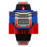 Harga Skmei 1095 Kid S Fashion Robot Style Digital Display Assemble Toy Watch Intl Fullset Murah