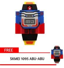 Cara Beli Skmei 1095 Kuning Kid S Fashion Robot Style Digital Display Assemble Toy Watch Intl Free 1 Pcs Skmei 1095 Abu Abu Kid S Fashion