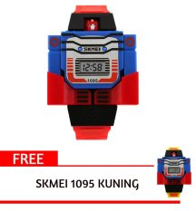Promo Skmei 1095 Merah Kid S Fashion Robot Style Digital Display Assemble Toy Watch Intl Free 1 Pcs Skmei 1095 Kuning Kid S Fashion