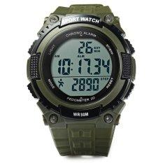 Beli Skmei 1112 Multifunctional 3D Pedometer Male Wristwatch Army Green Intl