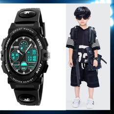 Ulasan Skmei 1163 Jam Tangan Anak Anak Fashion Sport Wristwatch Tahan Air Dual Time Led Analog Digital Quartz Watch Untuk Anak Lelaki Asli Intl