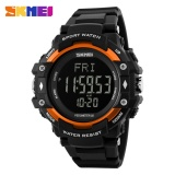 Jual Skmei 1180 3D Pedometer Tracker Digital Led Display Men S Outdoor Sports Waterproof Watch Orange Termurah