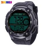 Jual Skmei 1203 Pria Digital Watch Kalender Tampilan Led Chronograph Alarm 5Atm Jam Tangan Abu Abu Intl Branded Original