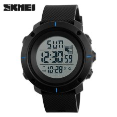 Jual Skmei 1218 Outdoor Man Olahraga Militer 50 M Tahan Air Kompas Watches Hiking Digital Led Elektronik Watch Biru Branded Murah