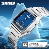Beli Skmei 1220 Pria Quartz Digital Sport Wristwatch Fashion Bisnis Dual Time Jam Tangan Lampu Belakang Tahan Watch Relogio Masculin Pakai Kartu Kredit