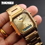 Review Skmei 1220 Pria Quartz Digital Sport Wristwatch Fashion Bisnis Dual Time Jam Tangan Lampu Belakang Tahan Watch Relogio Masculin Skmei