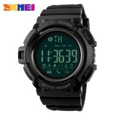 Spesifikasi Skmei 1245 Pria Olahraga Watches Bluetooth Smart Watch Pedometer Kalori Chronograph Fashion 50 M Tahan Air Jam Tangan Digital Hitam Paling Bagus