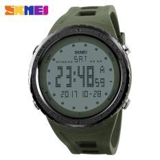 Berapa Harga Skmei 1246 Pria Olahraga Watches Countdown Chrono Double Time El Lampu Digital Jam Tangan 50 M Tahan Air Hijau Tentara Intl Di Tiongkok