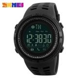 Beli Skmei 1250 Pria Smart Jam Tangan Bluetooth Pedometer Kalori Chronograph Fashion Luar Ruangan Sport Backlight Tahan Air Pria Jam Tangan Hitam Pake Kartu Kredit