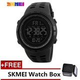 Beli Skmei 1251 Men S Sports Watches Countdown Double Time Watch Chrono Digital Wristwatches Black Free Watch Box Intl Terbaru
