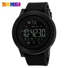 Spesifikasi Skmei 1255 Pria Tahan Air Elektronik Jam Kalori Langkah Bluetooth Watch Black Intl Baru