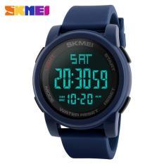 Spesifikasi Skmei 1257 Pria Countdown Olahraga Watches Digital Led Lampu Belakang Man Quartz Watch Militer Alarm Tahan Air Jam Fashion Outdoor Arloji Yang Bagus