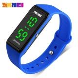 Jual Skmei 1265 Wanita Sports Watches Girls Simple Desain Led Watch Ladies Digital Jam Tangan 30 M Tahan Air Biru Lengkap