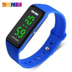 Jual Skmei 1265 Wanita Sports Watches Girls Simple Desain Led Watch Ladies Digital Jam Tangan 30 M Tahan Air Biru Skmei Murah