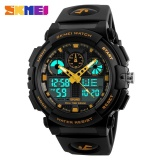 Spesifikasi Skmei 1270 Men Double Display Watch Sports Watch Digital Dual Time Meter Gold Intl Murah Berkualitas