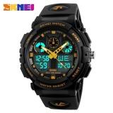 Beli Skmei 1270 Men Double Display Watch Sports Watch Digital Dual Time Meter Gold Intl Skmei