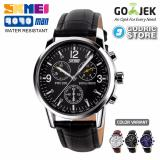 Harga Skmei Jam Tangan Pria Leather Strap Casual Fashion Water Resistant 9070 9070Cl Original Anti Air Hitam Skmei Original