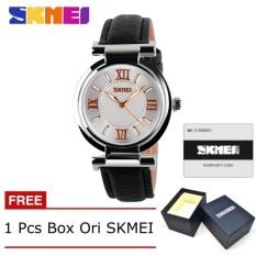 Model Skmei 9075 Fahsion Wanita S Jam Tangan Kulit Quartz Watch Tahan Air Digital Arloji Gratis Box Hitam Terbaru