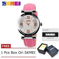 Katalog Skmei 9075 Fahsion Wanita S Kulit Jam Tangan Quartz Watch Tahan Air Digital Arloji Gratis Box Pink Terbaru