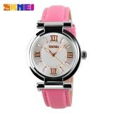 Harga Skmei 9075 Fashion Wanita Watch Leather Quartz Alloy Casual Waterproof Digital Wrist Watch Intl Yang Murah