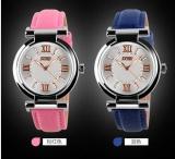 Promo Toko Skmei 9075 Modis Wanita S Kulit Jam Tangan Quartz Watch Tahan Air Digital Arloji Pink Intl