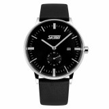 Jual Skmei 9083Cl Jam Tangan Pria Casual Leather Strap Watch Water Resistant 30M Hitam Branded Original