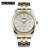Toko Skmei 9099 Pria Jam Tangan Full Stainless Steel Olahraga Fashion Tahan Air Bisnis Watch Putih Terlengkap Tiongkok