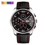 Katalog Skmei 9106 Pria Fashion Quartz Watch Bisnis Tanggal Chronograph Jam Tangan Merah Internasional Skmei Terbaru