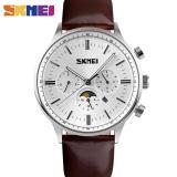Beli Skmei 9117 Fashion Pria Big Dial Designer Quartz Watch Pria Arloji Silver Putih Intl Pakai Kartu Kredit