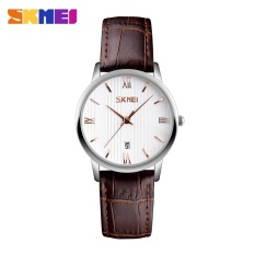 SKMEI 9130 Beberapa Pecinta Wanita Watch Tahan Air QUARTZ Leather Watch Coklat Emas-internasional