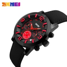 Ulasan Skmei 9147 Pria Quartz Watch 30 M Tahan Air Olahraga Jam Tangan Selesai Kalender Jam Tangan Hitam Merah