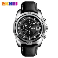 Beli Skmei 9156 Pria Enam Pin Watch Tahan Air Racing Quartz Watch Silver Intl Online Indonesia
