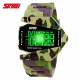 Toko Skmei Airplane Watch 0817B Water Resistant Anti Air Wr 50M Digital Sports Aircraft Jam Tangan Pria Tali Strap Silicone Military Camouflage Hitam Online Terpercaya