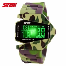 Cuci Gudang Skmei Airplane Watch 0817B Water Resistant Anti Air Wr 50M Digital Sports Aircraft Jam Tangan Pria Tali Strap Silicone Military Camouflage Hitam