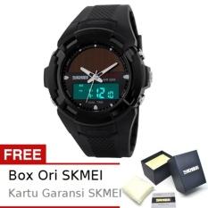 SKMEI Bizzare Hitam - Jam Tangan Pria - Strap Karet - 1056 Sport Black + Free BOX ORI SKMEI