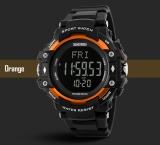 Katalog Skmei Merek Watch 3D Pedometer Heart Rate Pria Monitor Kalori Counter Wrist Watch Kebugaran Tracker Digital Led Olahraga Watch 1180 Terbaru