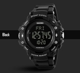 Jual Skmei Merek Watch 3D Pedometer Heart Rate Pria Monitor Kalori Counter Jam Tangan Kebugaran Tracker Digital Led Olahraga Watch 1180 Branded