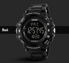 Promo Skmei Merek Watch 3D Pedometer Heart Rate Pria Monitor Kalori Counter Jam Tangan Kebugaran Tracker Digital Led Olahraga Watch 1180