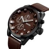 Ulasan Lengkap Tentang Skmei Merek Watch Fashion Retro Kulit Olahraga Quartz Mewah Jam Tangan Pria Bisnis Kulit Tahan Air Watch Male Clock Relogio Masculino 9165 Intl