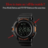 Jual Skmei Watch Pria Digital Pedometer Kebugaran Tracker Clock Kalori Smart Watch Relogio Masculino Fashion Olahraga Merek Watches 1245 Skmei