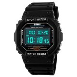 Review Skmei Brand Watches Men Led Digital Watch Black Pu Watchband Dive 50M Fashion Outdoor Sport Wristwatches 1134 Black Intl Tiongkok