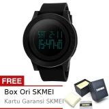 Promo Skmei Bravo Jam Tangan Pria Hitam Tali Kulit Bravo 1142 Black Edition Free Box Ori Skmei Murah