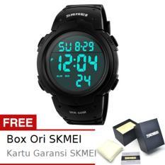 SKMEI Byson Hitam - Jam Tangan Pria - Strap Karet - 1068 Sport Black + Free BOX ORI SKMEI