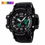 Berapa Harga Skmei Dual Time Men Sport Led Watch Anti Air Water Resistant Wr 50M Ad1137 Jam Tangan Pria Tali Strap Karet Digital Alarm Wristwatch Wrist Watch Fashion Accessories Stylish Trendy Model Baru Sporty Design Hitam Putih Di Dki Jakarta